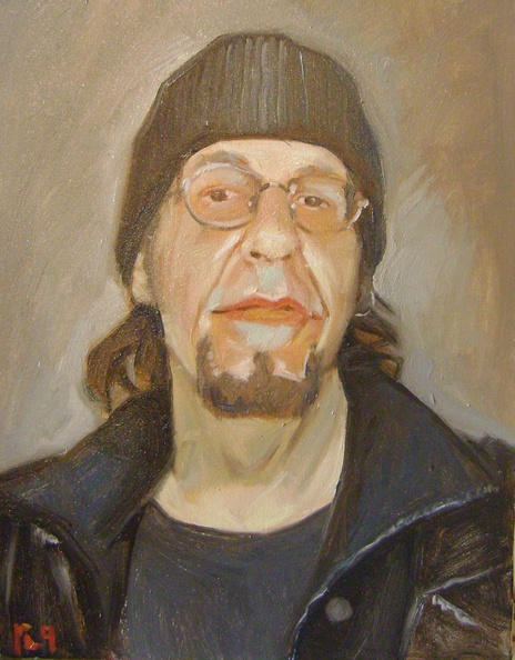fan portrait in oils