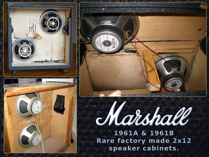 Marshall factory 1961 cabinet examples